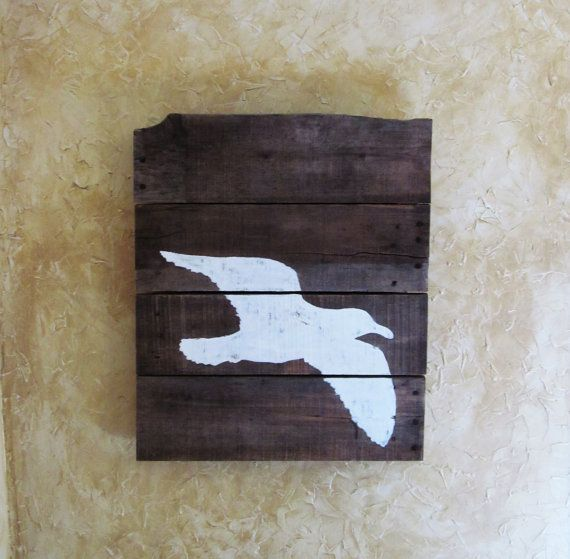 Hey, I found this really awesome Etsy listing at https://www.etsy.com/listing/472114118/rustic-seagull-wall-art-rustic-home
