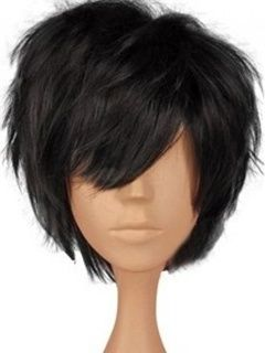 Fluffy Elegante Natural Short Straight Top Quality 100% Real Human Hair Wig about 8 Inches
