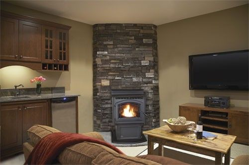 wood stove decorating ideas 2