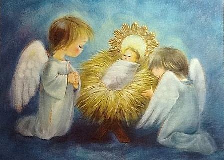 Angels & Christ child