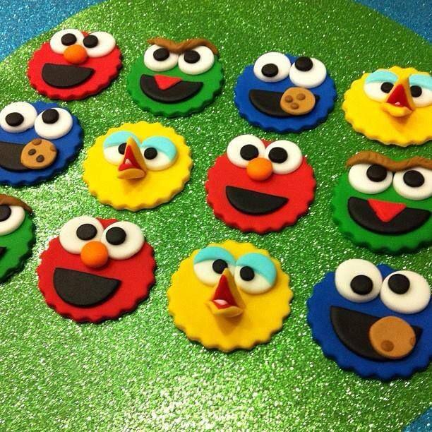 Sesame Street cupcake toppers