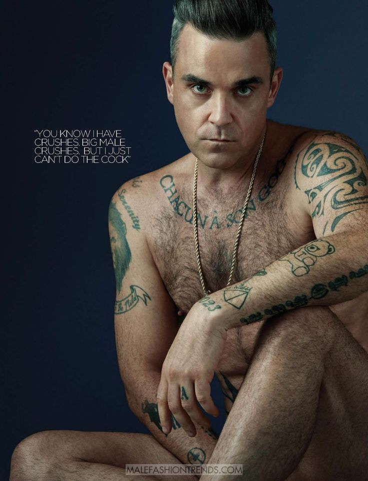 Male Fashion Trends: Robbie Williams para Attitude Magazine por Steph Pistel