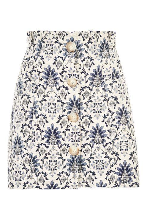 Porcelain Jacquard Mini Skirt