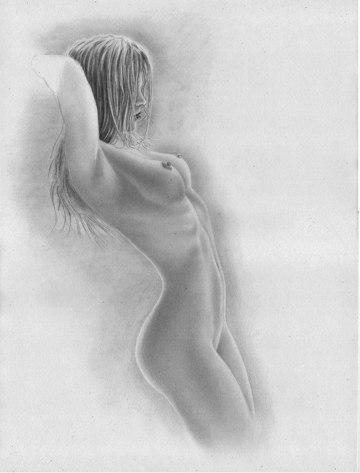 sexy zeichnen lernen -   nackte Frau seitlich - Tutorial                                                                                                                                                                                 Mehr