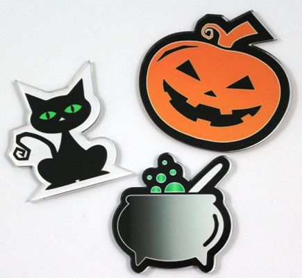Reverse Print Halloween Cabochons by Little Laser Lab