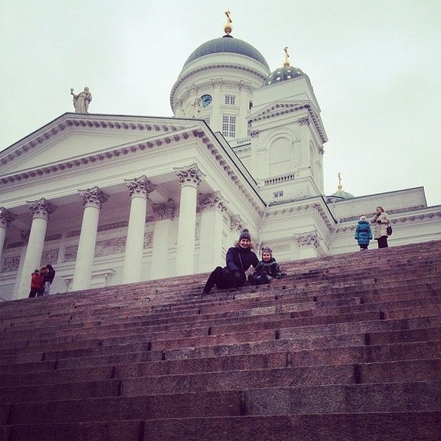 Tuomiokirkko, or the Helsinki Cathedral, is the city's most recognizable landmark.