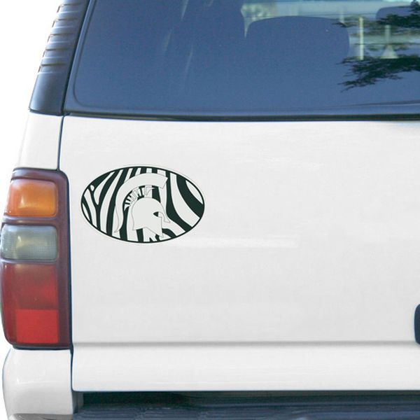 "Michigan State Spartans Zebra 6"" x 6"" Oval Full Color Magnet - $5.99"