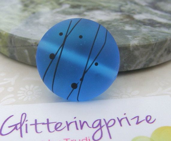 Lampwork Glass Bead Graffiti Scribble In Turquoise for jewellery / jewelry making by GlitteringprizeGlass from £2.80