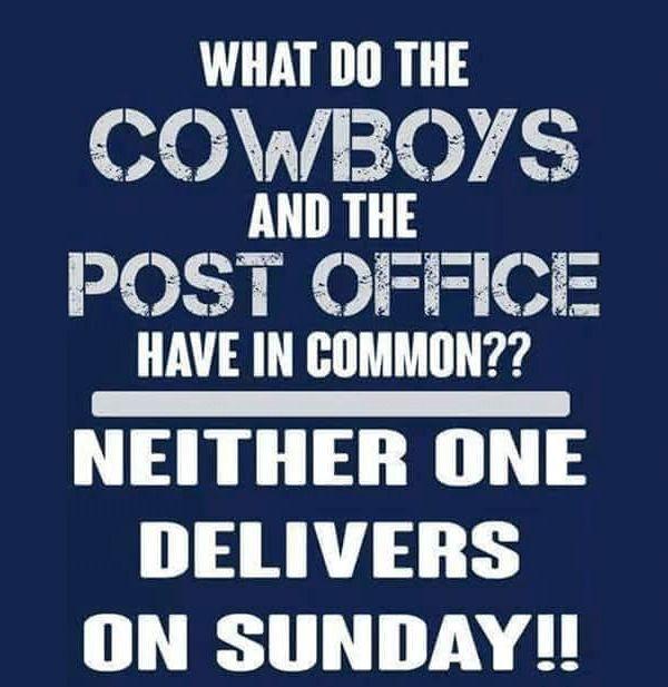 Dallas Cowboys No Delivery Funny Meme