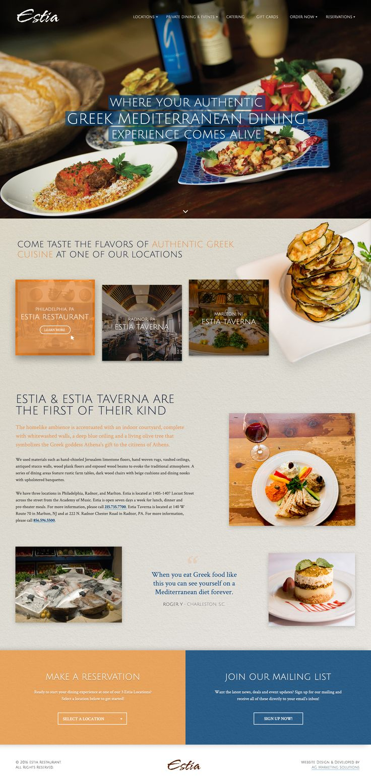 14 best website designs images on pinterest design websites site experience true greek mediterranean cuisine at our estia restaurant in philadelphia pa and taste the flavors of authentic greek cuisine at one of our estia forumfinder Choice Image