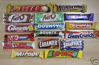 CANADIAN CHOCOLATE BARS 6 Full Size You Pick AERO MR BIG CARAMILK COFFEE CRISP..