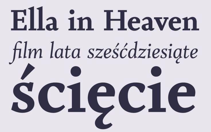 Krój pisma Szymborska, źródło: Fundacja Miasto Literatury What Font Would Szymborska Have Used?