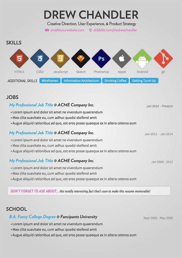 interesting resume ideas