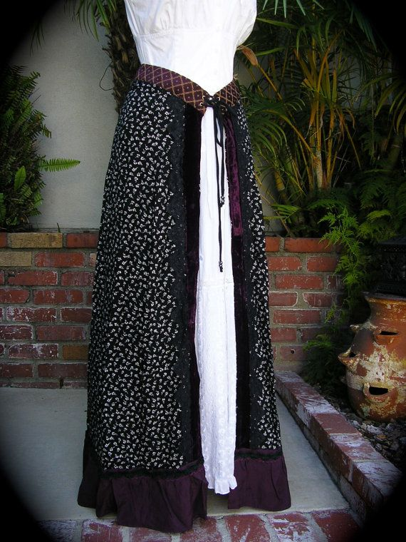 RESERVED Long Bohemian Skirt Wrap handmade unique by GrandmaDede