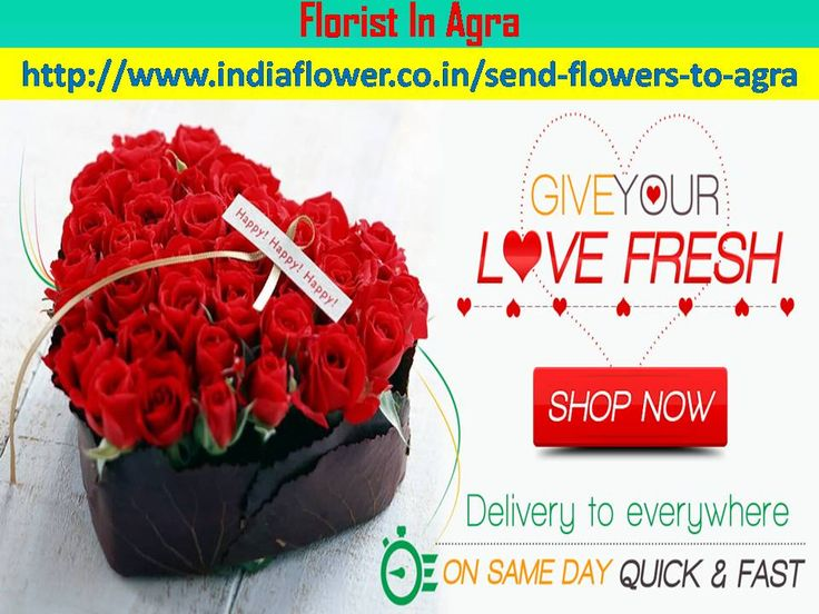 We are send flowers to agra and all over the world. We are 24x7 hours available for send flowers to agra and all over the india in all events and occassions. We are the best online florist in the world http://www.indiaflower.co.in/send-flowers-to-agra
