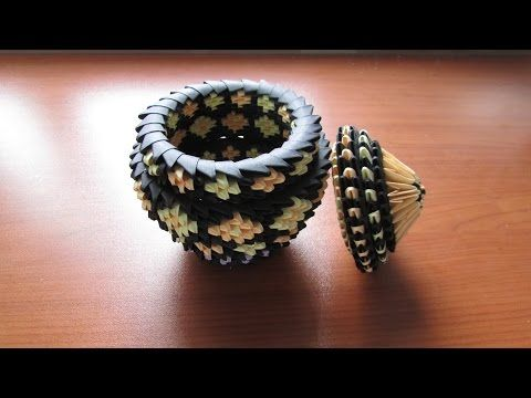 3D Origami Pot Tutorial - YouTube