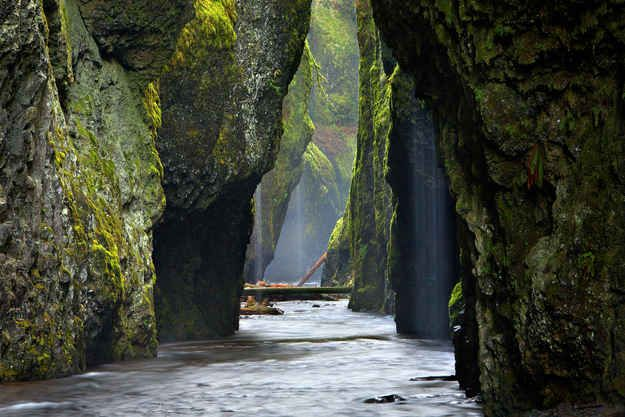 Oneonta Gorge, Oregon | 29 Surreal Places In America You Need To Visit Before You Die