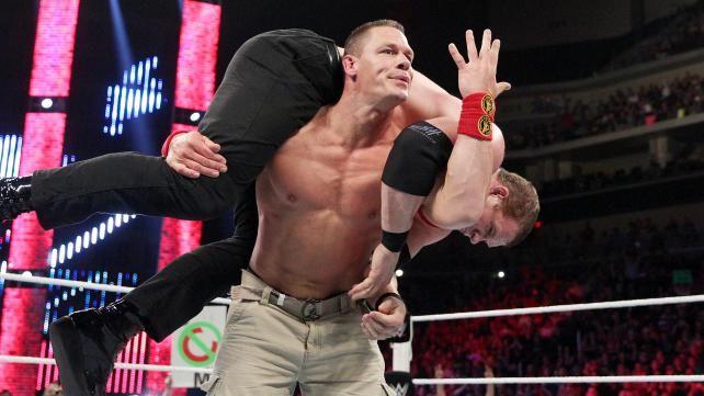 John Cena, Roman Reigns & Chris Jericho vs. Randy Orton ...