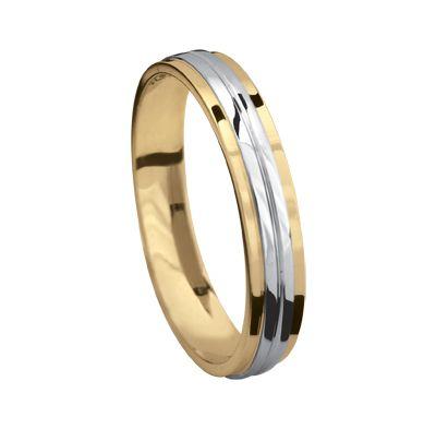 Argolla  de oro blanco y amarillo de 14k $4600.00