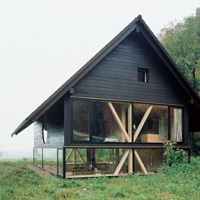 Barn home with amazing windows.