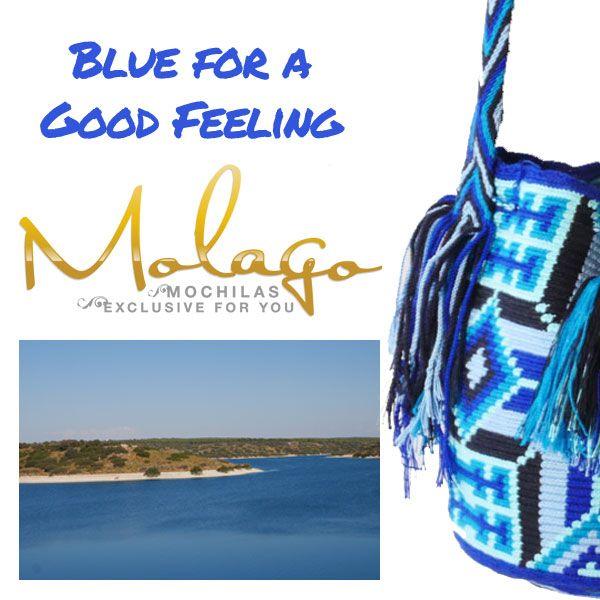 Weit weg von Hektik und Alltagsstress. Die Farbe Blau wirkt beruhigend und entspannend. Finde deine Lieblingstasche Online unter www.molago.de #molago #mochila #mochileria #bags #taschen #wayuu #handmade #handgemacht #freiburg #kolumbien #colombia #fashion #berlinalefashion #berlin #mode #modeblog