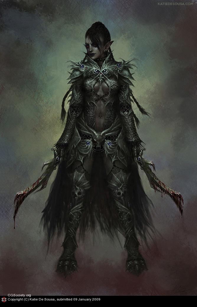 Female Dark Elf   cool...