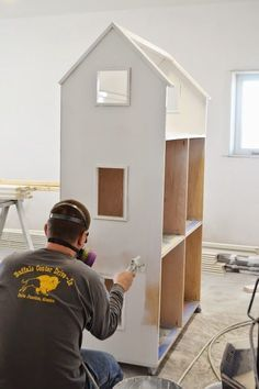 American girl doll dollhouse free plans to make big three story loft rolling huge tall narrow tutorial by ANA-WHITE.com