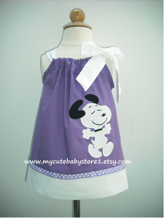 Snoopy Pillowcase dress by mycutebabystore1 on Etsy, $28.50