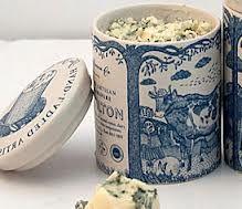blue and white china stilton pot