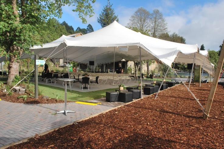 Ceremony tent at Rainbow Springs in Rotorua