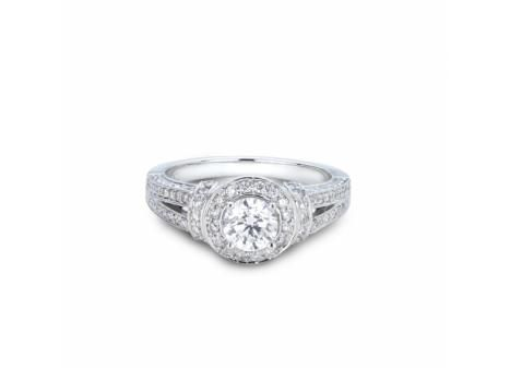 Mined in Northern Ontario this 18k Palladium & White Gold Canadian Victor Diamond 1.37ctw Bridal Ring in VS quality is a true Canadian treasure.