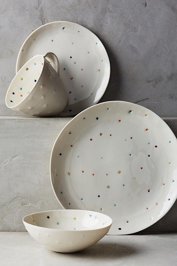 Confetti Dot Dinner Plate