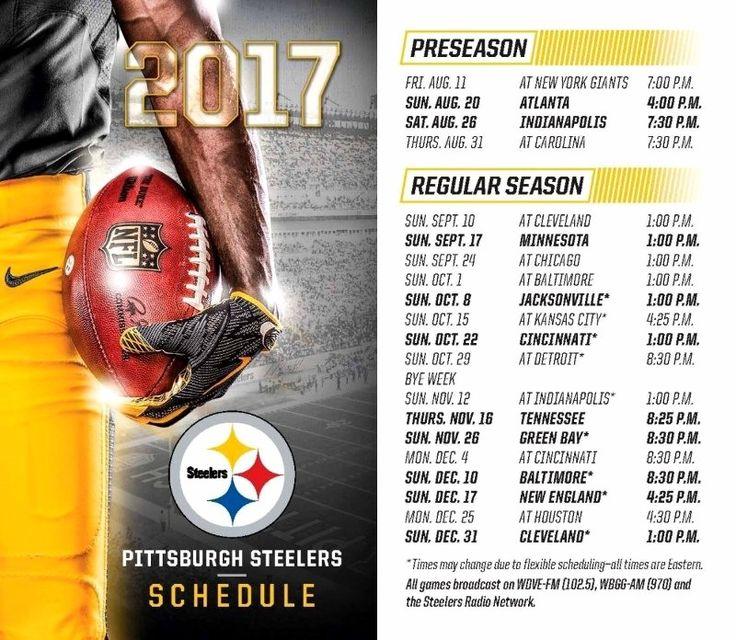 steelergalfan4life  - 2017-18 Schedule