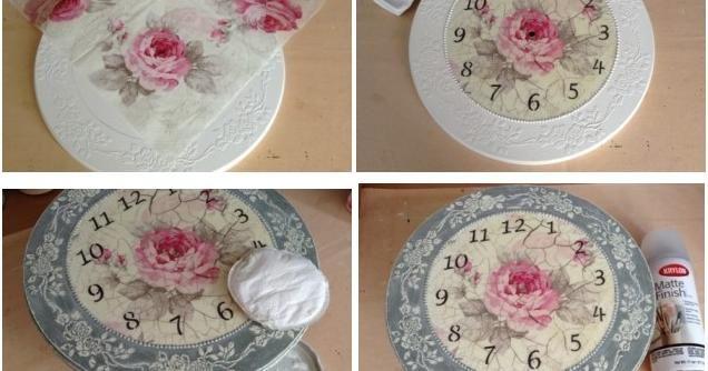 Decora un reloj al estilo vintage