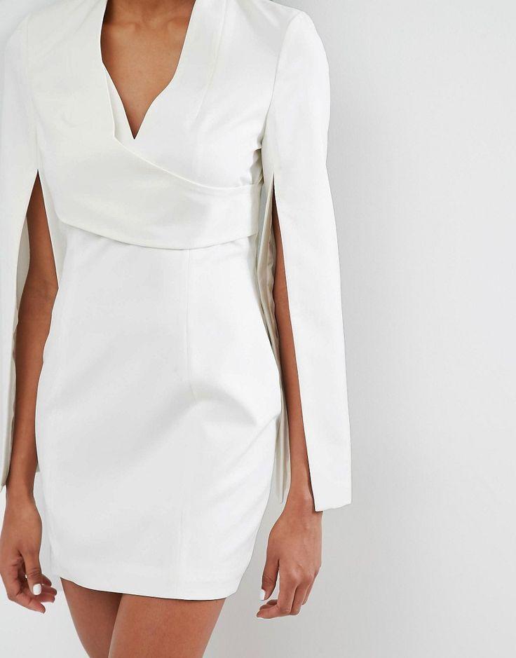 lavish alice wrap detail split sleeve mini dress at asos com