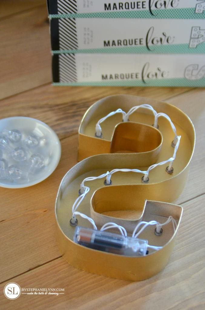 DIY Marquee Letter Lights - kits from Michaels