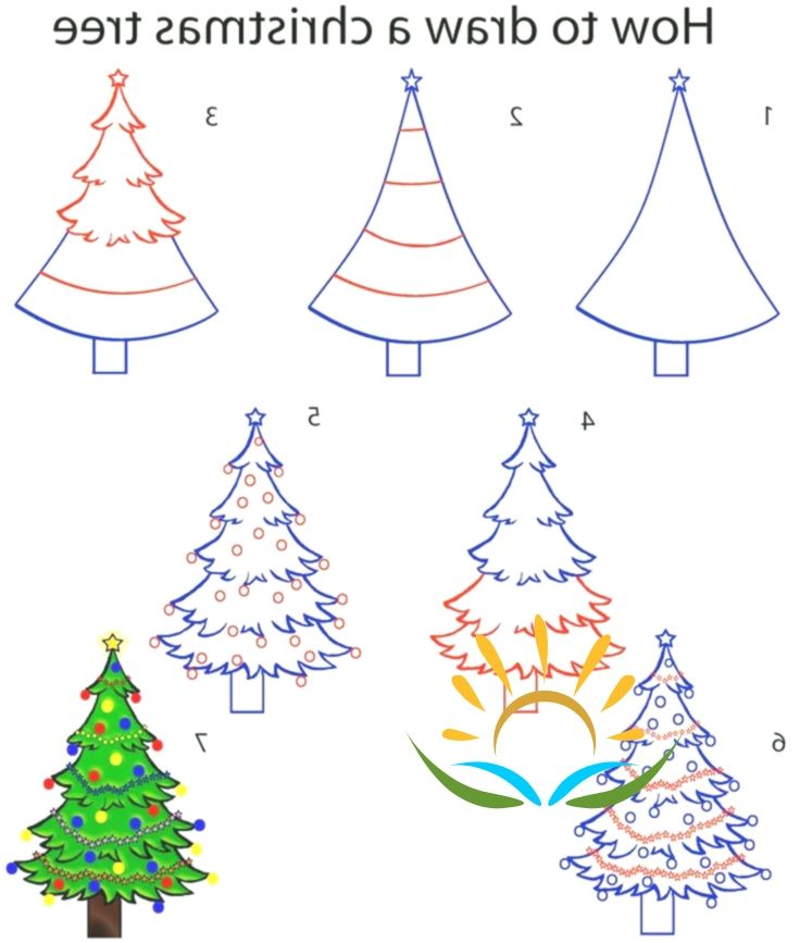 How To Draw A Christmas Tree Step By Step Drawing Tutorial With Pictures In 2020 Christmas Tree Drawing Diy Christmas Tree Christmas Drawing