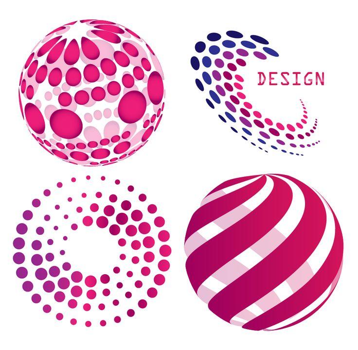 Pink Circle and Ball Logos
