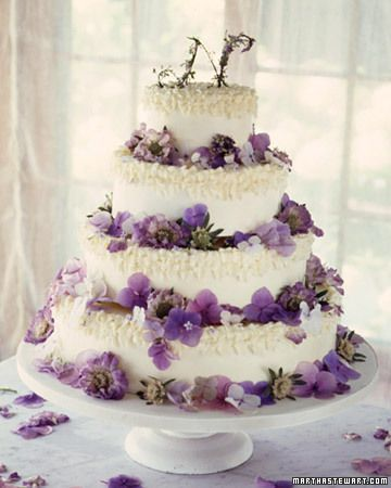 This buttercream cake, dusting with flower petals, is elegant enough for any party.