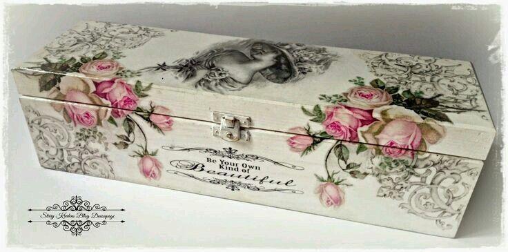Painted decoupaged box