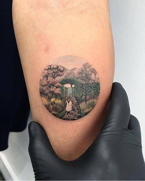 İllustration by Inga Moore/the secret garden Tattoo artist: Eva krbdk