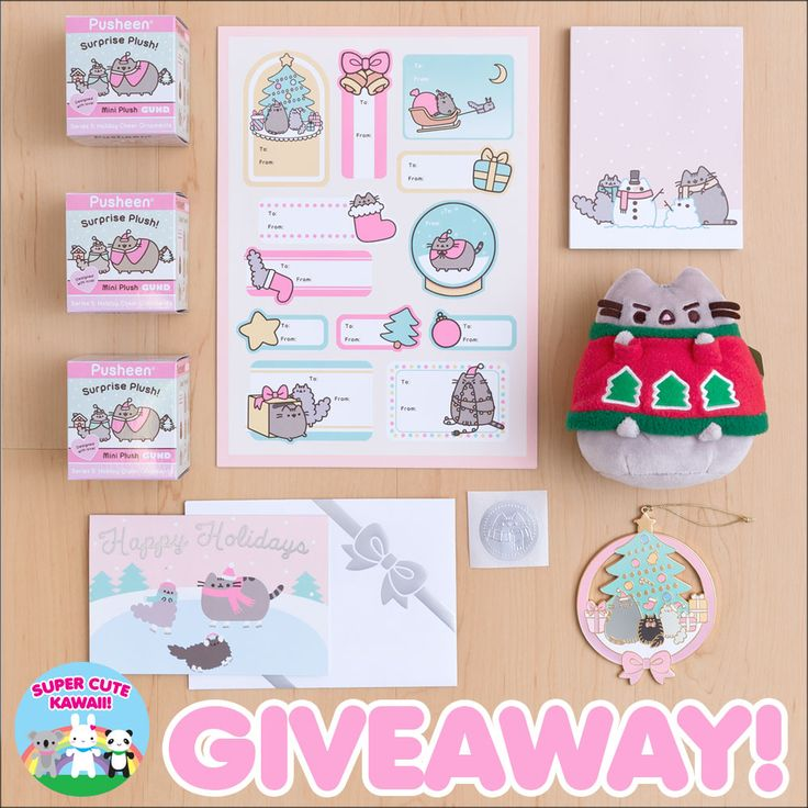 Enter our giveaway for a chance to win a huge Christmas Pusheen prize pack from Hey Chickadee including cute plush, cards, ornaments and more!