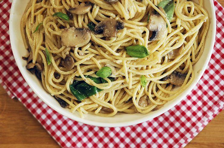 Kremalı Mantarlı Spagetti