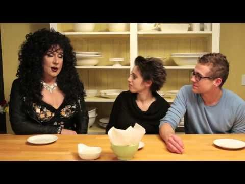 Celebrity-transvestite help cook food to gay and lesbian (The Curious Cook)