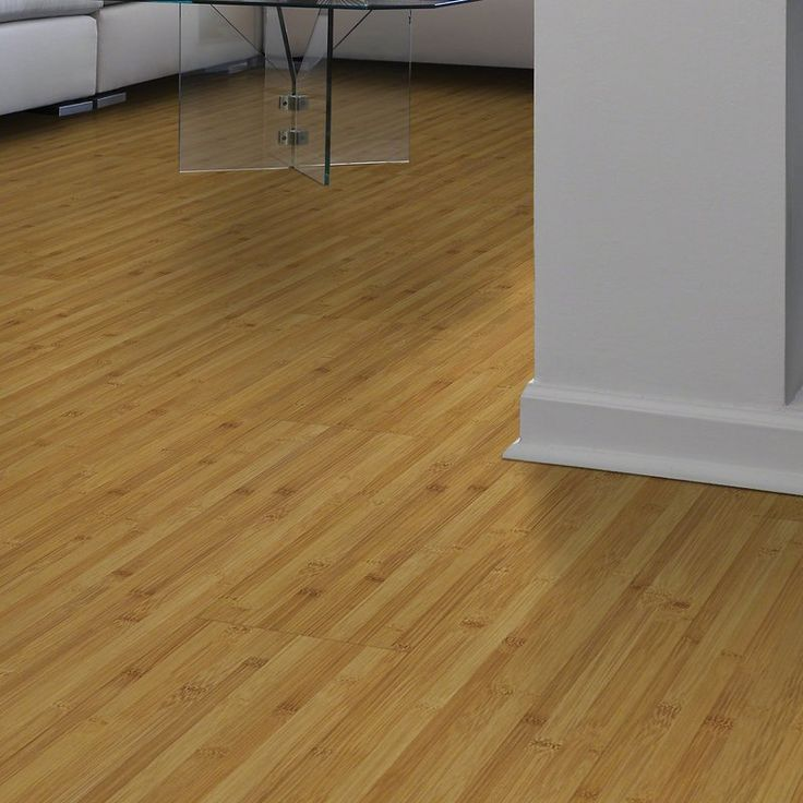 """Rosswood 8"""" x 48"""" x 7.94mm Bamboo Laminate Flooring in Saucy Gold"""