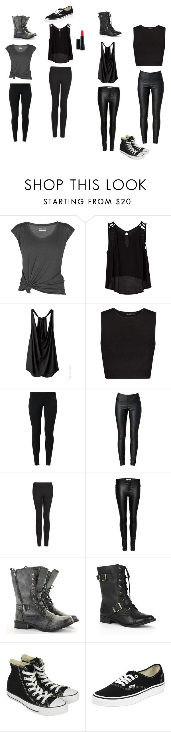 """""""Dauntless outfit"""" by i-love-divergent ❤ liked on Polyvore featuring Lija, Lush Clothing, MANGO, NIKE, VILA, J Brand, CO, Sole Society, Converse and Vans"""