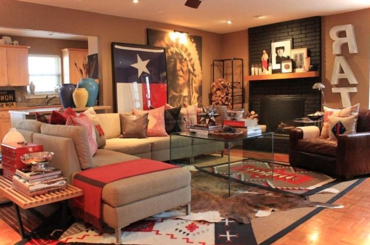 17 best images about texas room on pinterest throw for Western living room designs