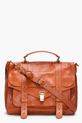Welcome to my wishlist, PROENZA SCHOULER PS1 Large Brown Satchel...in my dreams!