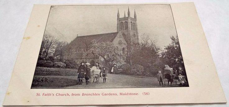 St Faiths Church - Maidstone - Kent - Antique Postcard c1910