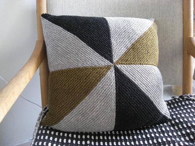 Knit pillow.